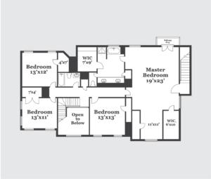 Floor Plan with Grey Background