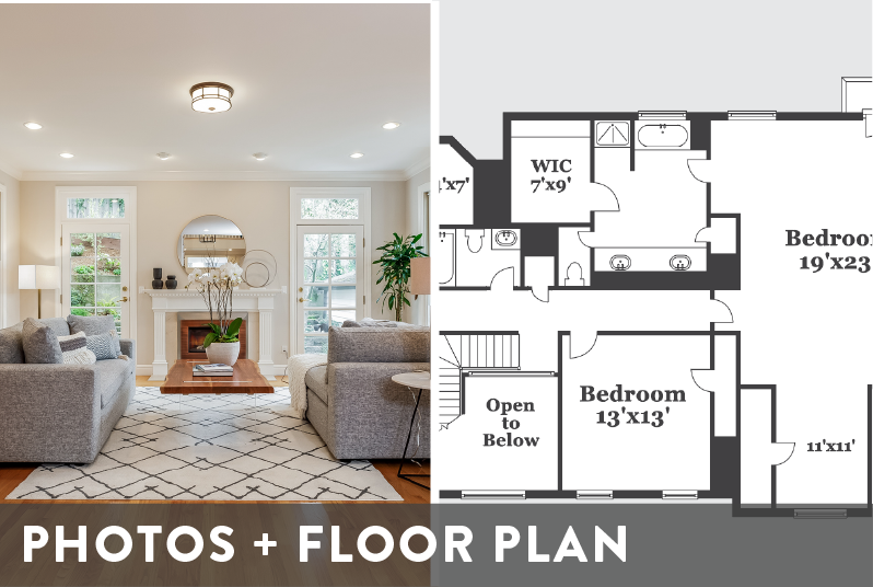 Professional Photography and Floor Plan Package Image