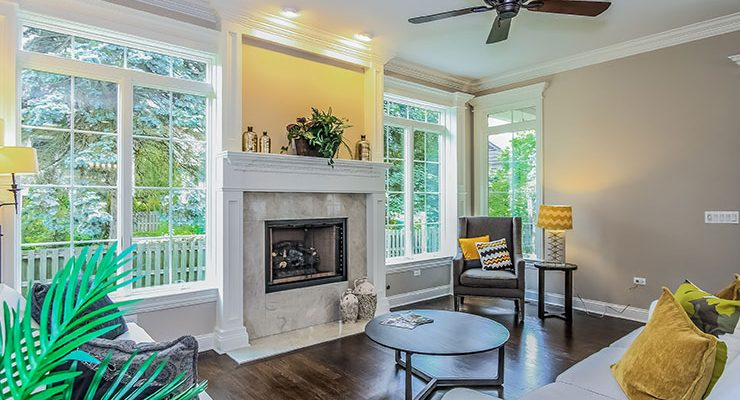 Professional Photography and Floor Plans Fireplace