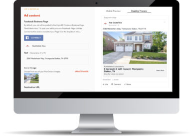 Facebook Advertising for Real Estate Automated Screen Mockup