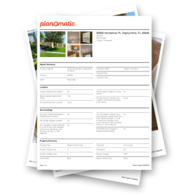 Property Condition Reports Mockup