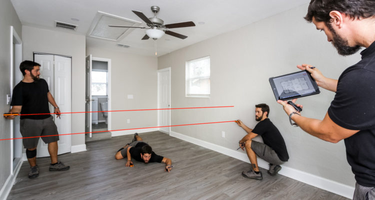 Contractor Drawing a Floor Plan