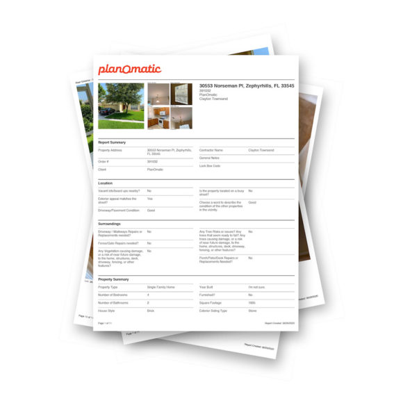 PlanOmatic Property Insight Reports Download