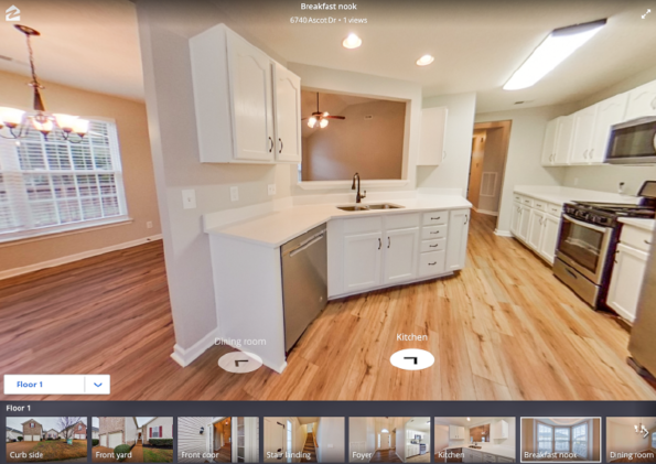Zillow 3D Tours by PlanOmatic Kitchen Image